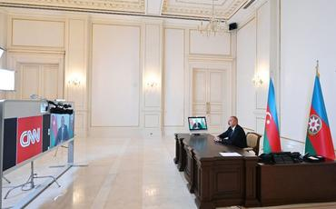 """Prezident İlham Əliyevin """"CNN International"""" televiziya kanalının """"The Connect World"""" verilişində müsahibəsi yayımlanıb"""