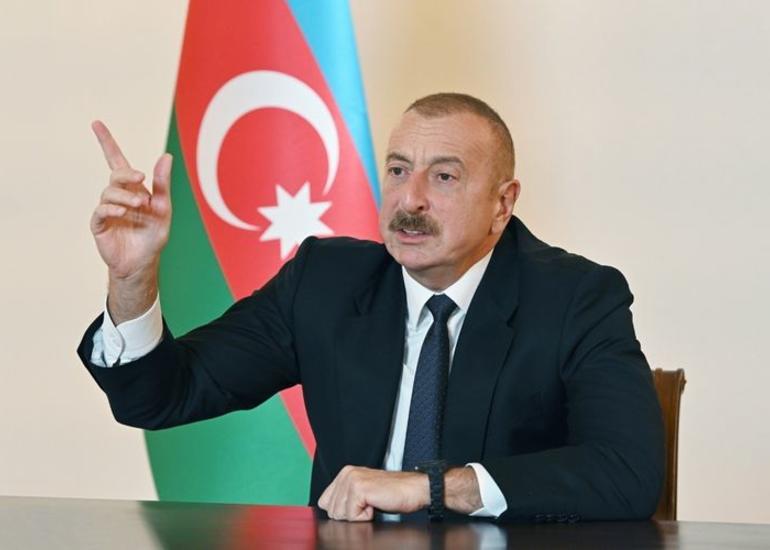 """Azərbaycan Prezidenti: """"İşğalçıya bəlkə də sonuncu dəfə şans veririk ki, çıxın bizim torpaqlarımızdan"""""""