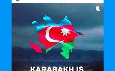 """""""Kəpəz""""də oynamış braziliyalı futbolçu: """"Erməni terroruna son, Qarabağ Azərbaycandır!"""""""