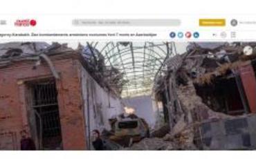 Fransa mətbuatı Ermənistan silahlı qüvvələrinin Gəncəyə raket hücumundan yazıb