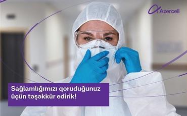 """""""Azercell"""" koronavirusla savaşan tibb işçilərinə dəstəyini davam etdirir"""