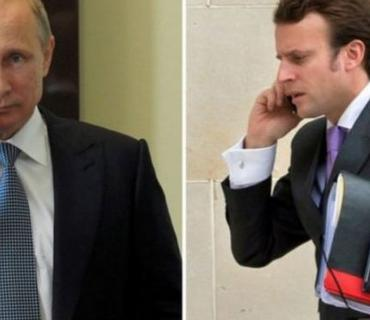 Putin və Makron arasında telefon danışığı olub