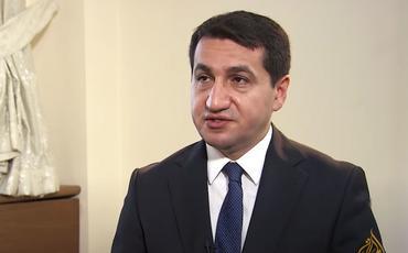 """Hikmət Hacıyev """"Al Jazeera"""" kanalına müsahibə verib"""