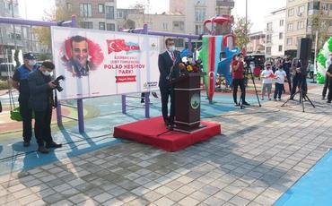 Türkiyədə şəhid general Polad Həşimov adına parkın açılışı olub