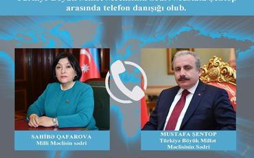 Sahibə Qafarova ilə Mustafa Şentop arasında telefon danışığı olub