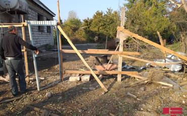 Ermənistan silahlı qüvvələri Ağdamda yaşayış evlərini raket atəşinə tutub