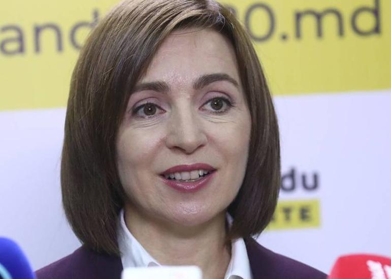 Maya Sandunun Moldovada prezident seçkilərinin qalibi olduğu rəsmiləşib