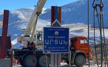 """Ermənilər Kəlbəcərin girişindəki """"Xoş gəlmisiniz"""" lövhəsini söküblər"""