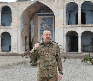 Azərbaycan Prezidenti: Həmsədr ölkələrinin səfirləri bu məsciddə olublar, niyə məsələ qaldırmayıblar?