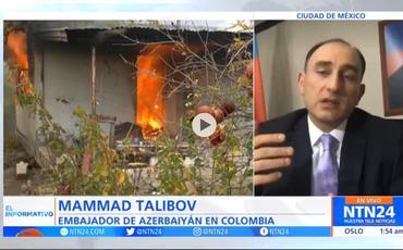 Kolumbiya televiziyası erməni təcavüzünün nəticələrini işıqlandırıb