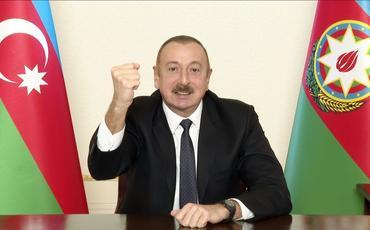 """Azərbaycan Prezidenti: """"Bu 44 gündə bir gün də olmayıb ki, biz haradasa geriyə çəkilək"""""""
