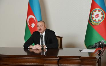 Prezident İlham Əliyev: Bu çətin vaxtda mənəvi-siyasi dəstək bizim xalqımız üçün olduqca vacibdir