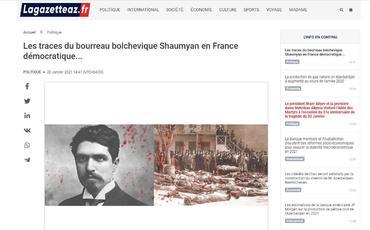 Cəllad Stepan Şaumyanın Fransada izləri - Fransa mətbuatı
