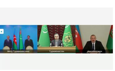 """""""Dostluq"""" yatağı Azərbaycanla birgə iş üçün yeni imkanlar açır - Qurbanqulu Berdiməhəmmədov"""