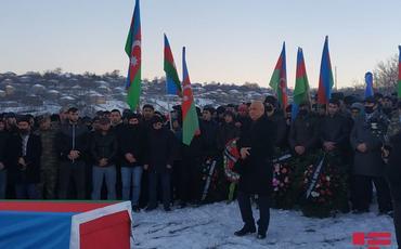 Azərbaycan Ordusunun minaya düşərək şəhid olan əsgəri Qusarda dəfn edilib