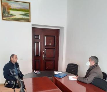 Ombudsmanın əməkdaşları Əfqan Sadıqovu qəbul edib