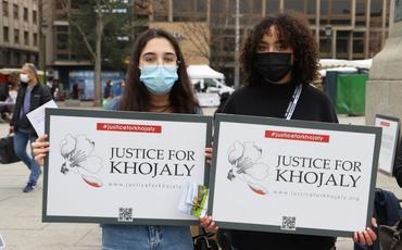 Strasburqun Kleber meydanında Xocalı soyqırımı ilə bağlı aksiya keçirilib