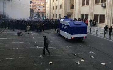 Tbilisidə nümayişçilərlə polis arasında qarşıdurma olub