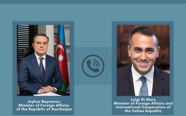 Azərbaycan və İtaliya XİN başçılarının telefon danışığı olub
