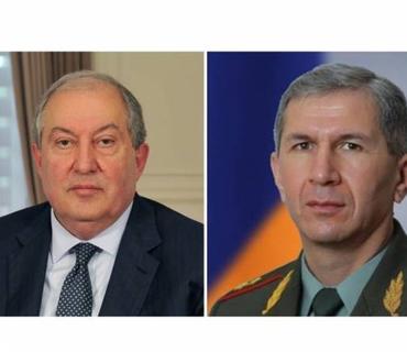 Ermənistan prezidenti Baş Qərargah rəisi ilə görüşüb