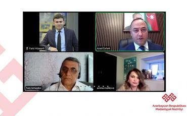 Beynəlxalq Abidələr və Tarixi Yerlər Gününə həsr olunmuş videokonfrans keçirilib