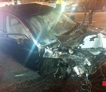 Bakıda 4 avtomobil toqquşub, 3 nəfər ağır xəsarət alıb