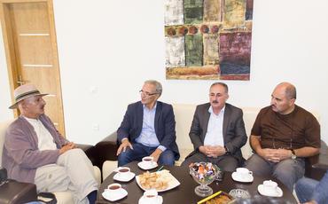 Dünya şöhrətli fotoqraf Reza Deqati Azərbaycan Mətbuat Şurasında olub