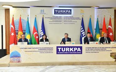 TÜRKPA-ya üzv ölkələrin parlament sədrlərinin iştirakı ilə mətbuat konfransı keçirilib