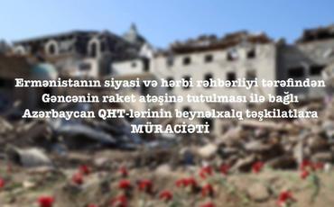 Azərbaycan QHT-ləri beynəlxalq təşkilatlara müraciət edib