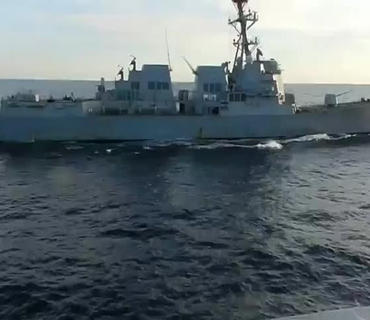 """ABŞ Hərbi Dəniz Qüvvələri """"Chafee"""" esminesinin beynəlxalq qanunları pozmadığını bildirib"""