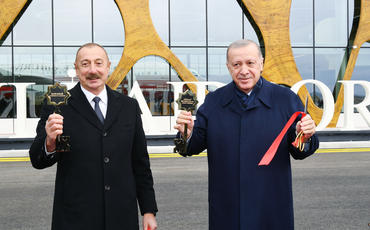 Azərbaycan və Türkiyə prezidentlərinin iştirakı ilə Füzuli Beynəlxalq Hava Limanının açılışı olub